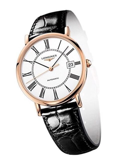 78a12ad9d2b Longines Presence Automatic 18K Rose Gold Men 039 s Strap Watch White Dial  Calendar | eBay Beautiful gift for him this Valentine's Day!!!