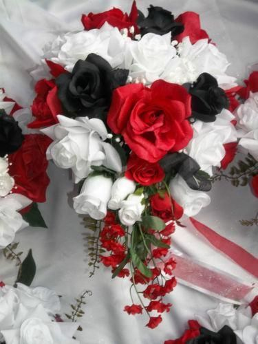Find great deals on ebay for red white black wedding bouquet in find great deals on ebay for red white black wedding bouquet in wedding flowers and garlands shop with confidence mightylinksfo