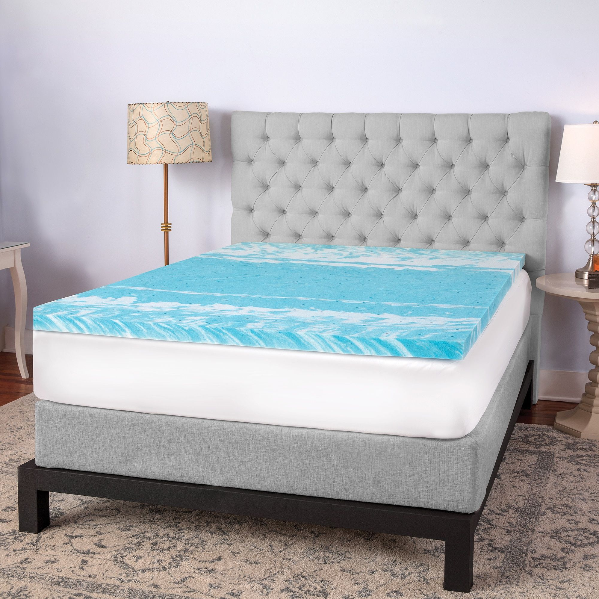 gel shipping bedding mattress loft overstock from sculpted memory comforpedic beautyrest foam topper bath inch today free product