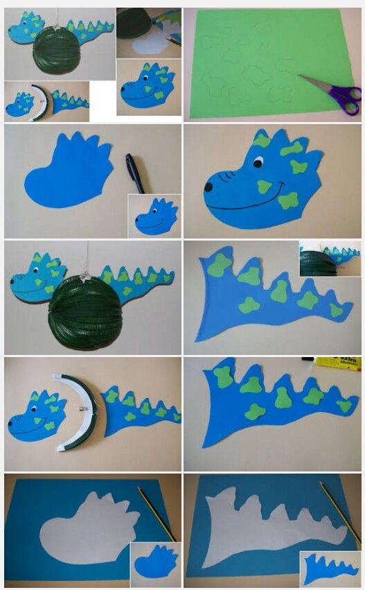 Dino Laterne Basteln Super Diy Fur Kleine Kinder Denn Es Geht So Einfach Laternen Basteln Laterne Basteln Luftballon Drachen Basteln Vorlage