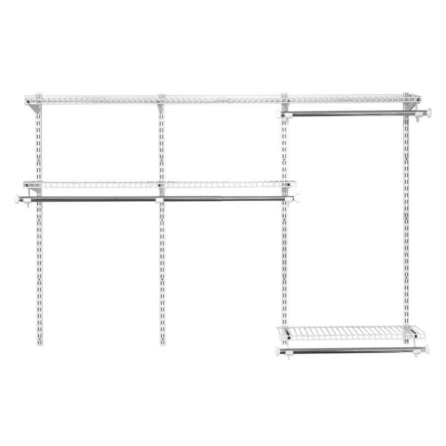 Rubbermaid HomeFree Series 3-ft to 6-ft White Adjustable Mount Wire ...