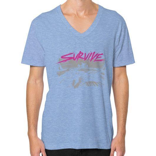 Survive Survive V-Neck (on man)