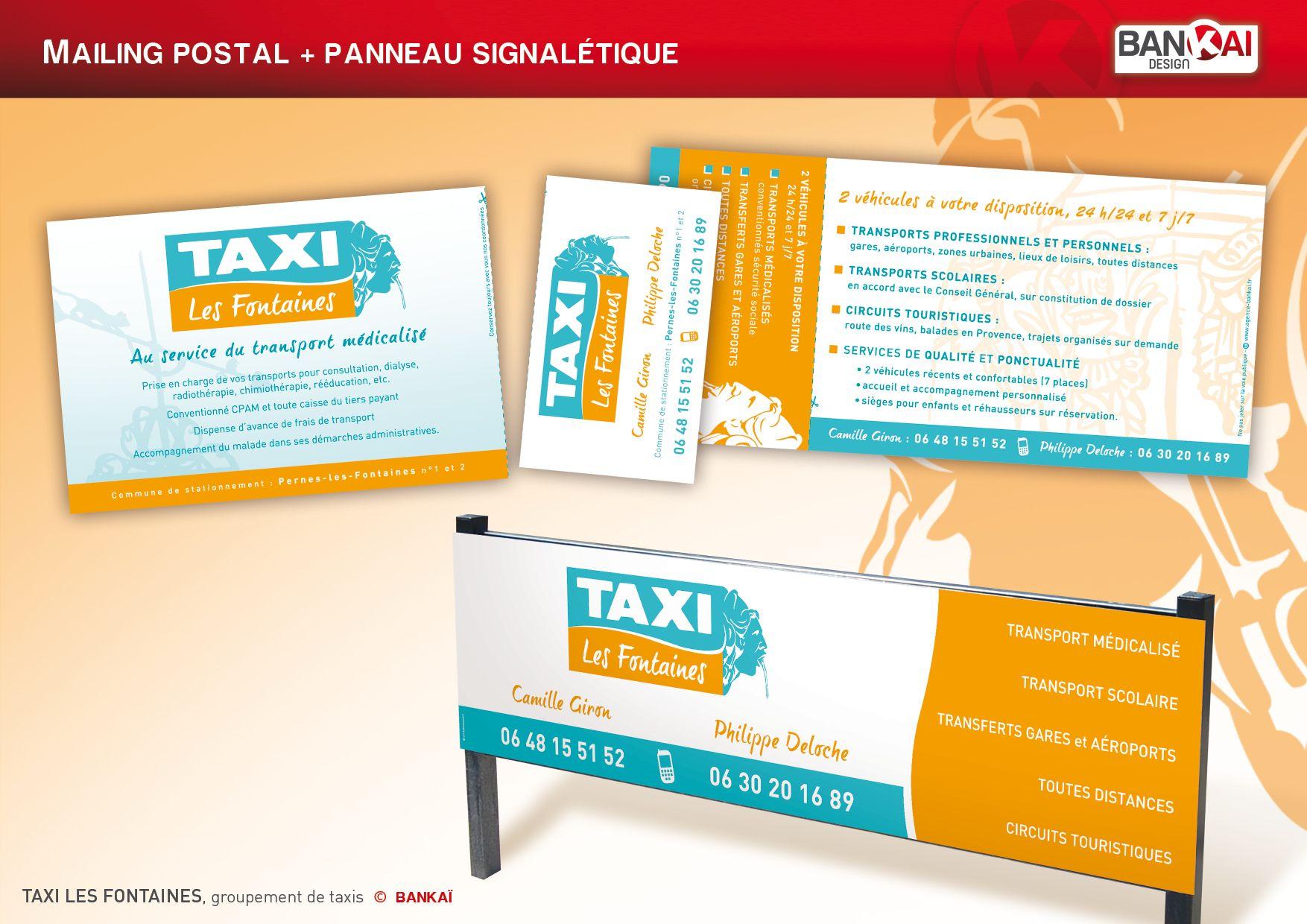 Taxi Des Fontaines Mailing Et Panneau Taxi Panneau Signaletique