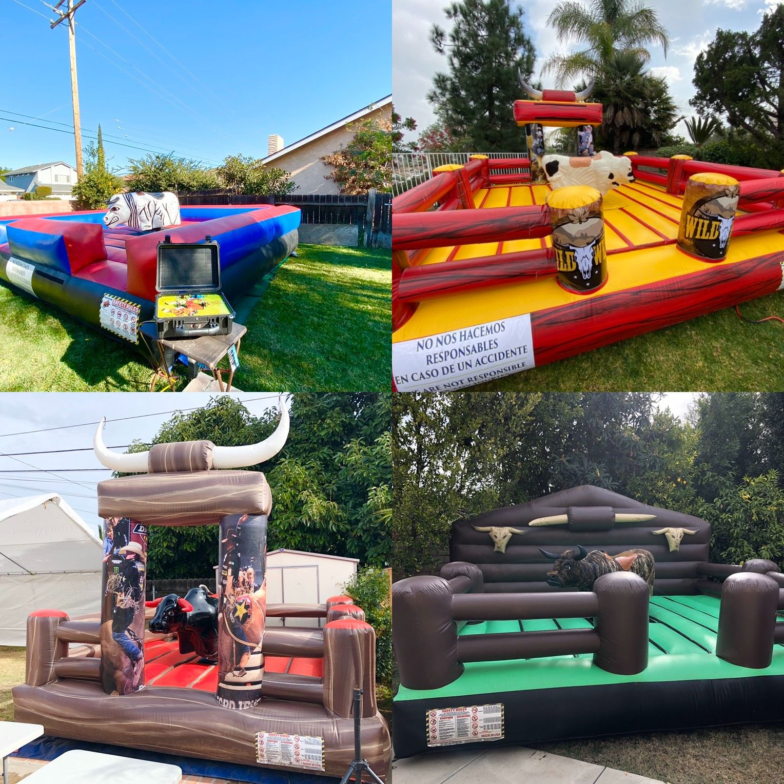 Crazy rides offers amazing mechanical bulls that safely