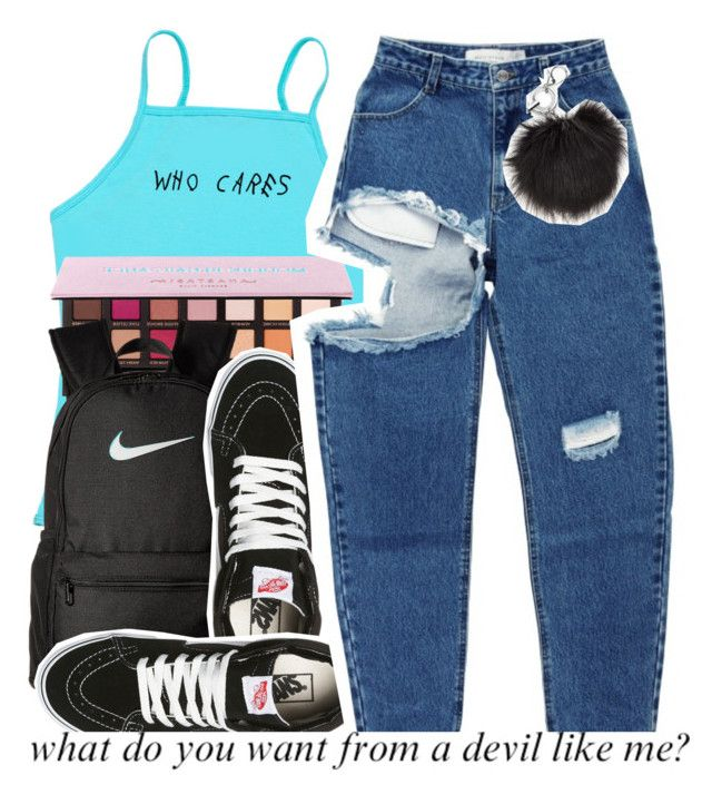 """"""""""" by bbynisa ❤ liked on Polyvore featuring NIKE and Vans"""