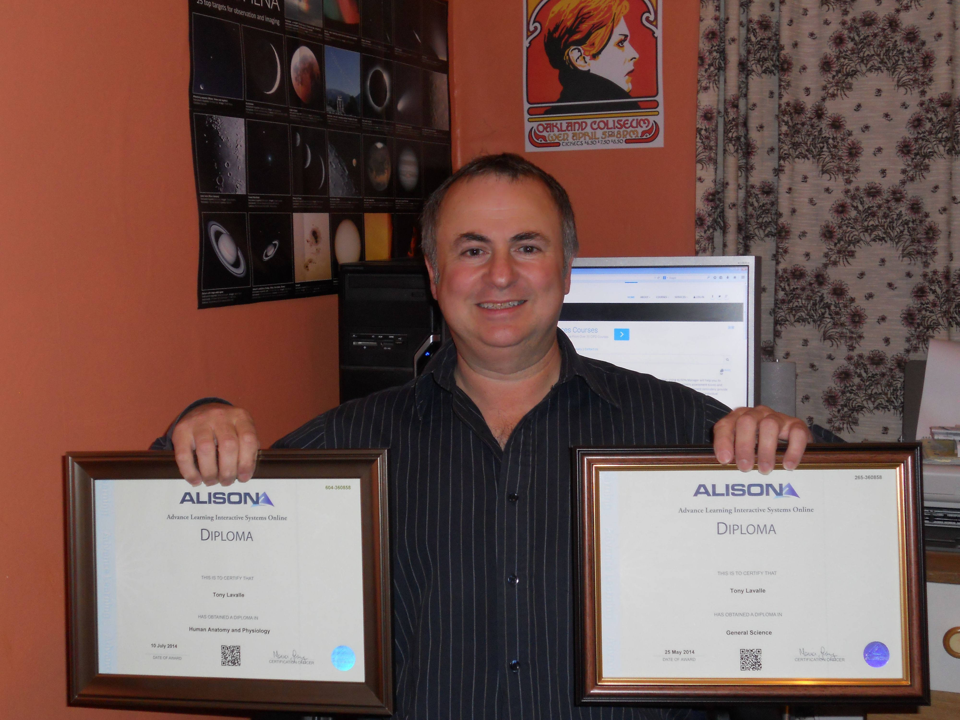Top ALISON learner Tony Lavelle from the UK, who earned Diplomas in ...