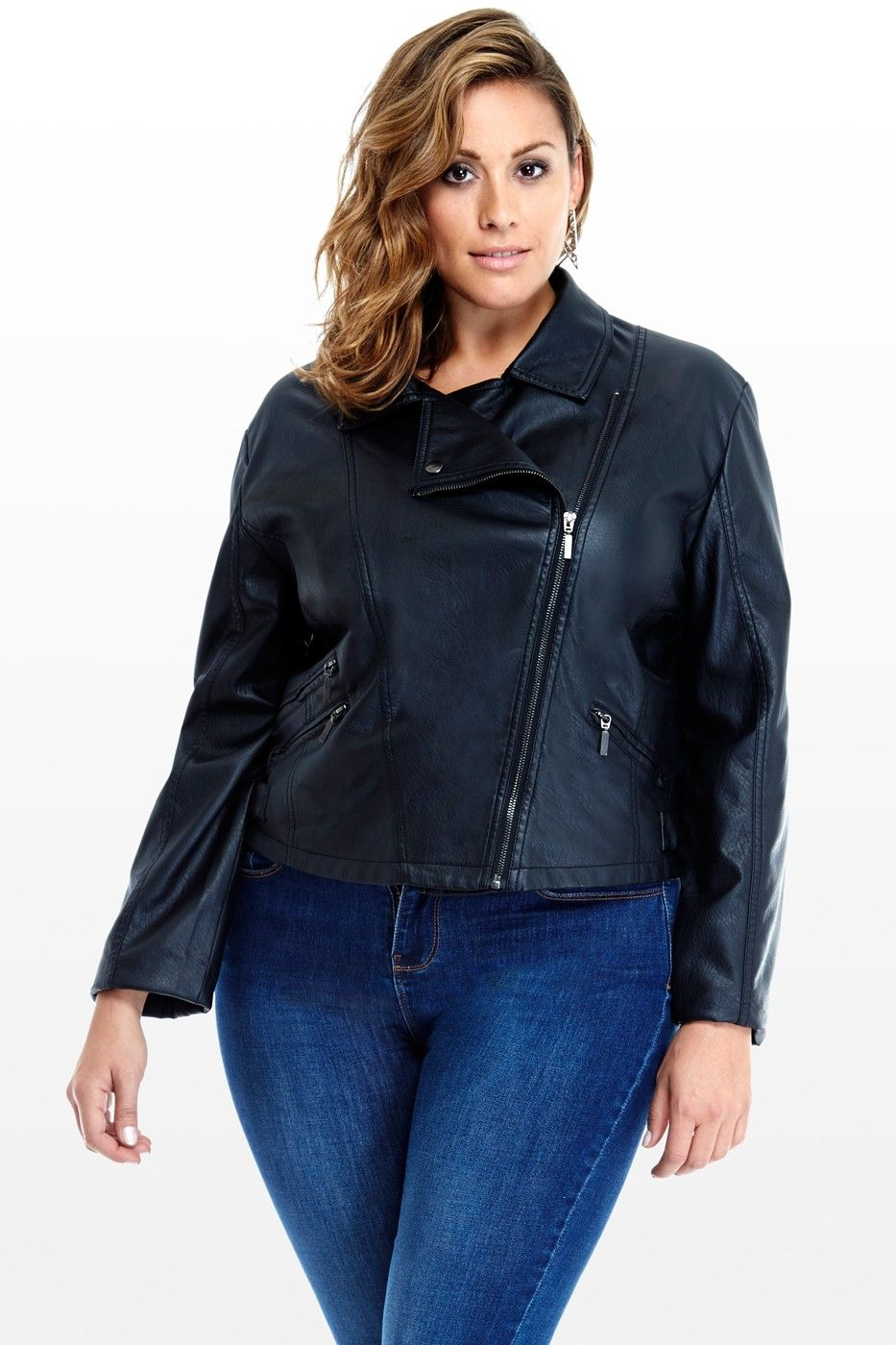 Smooth Ride FauxLeather Motorcycle Jacket (With images