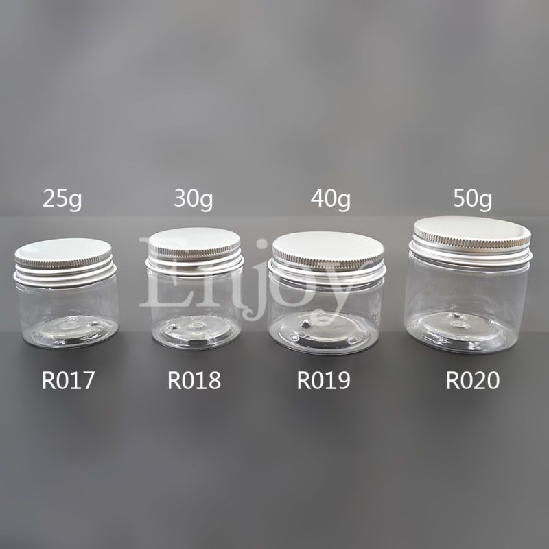 aaa3ad747648 Clear Empty Screw Lid Jar Pot Cosmetic Container 25G 30G 40G 50G 1Pc ...
