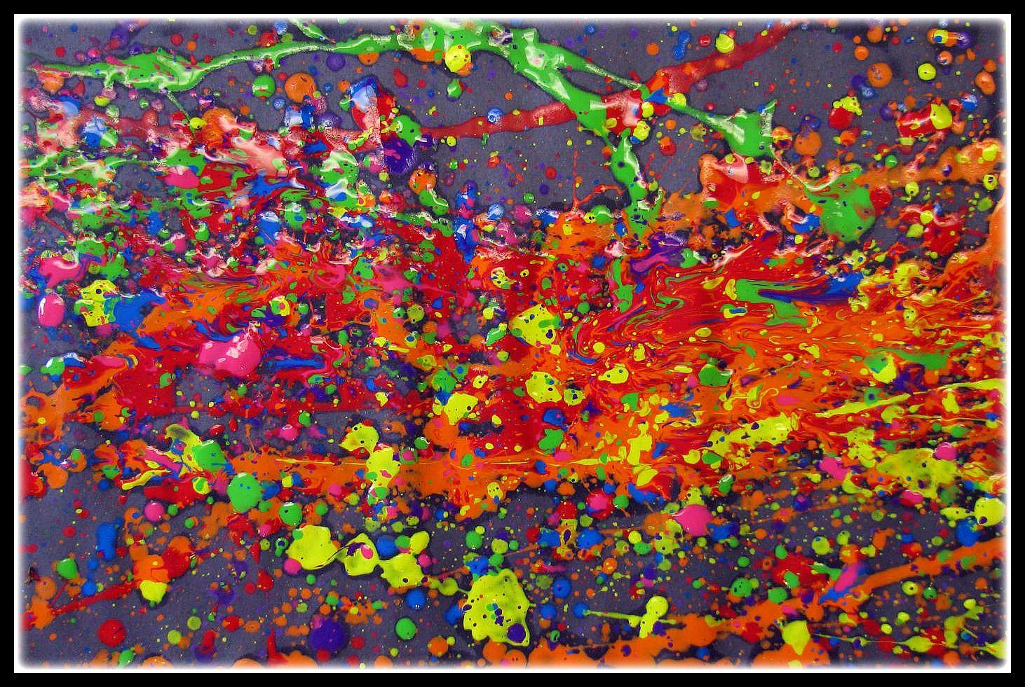 Plateau art studio jackson pollock splatter paint for Famous pollock paintings