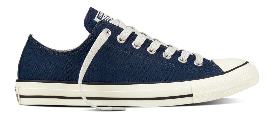 2a00ed05cc0 Converse Chuck Taylor All Star Low Top Coated Leather Midnight Navy/Black/ Egret 157558C