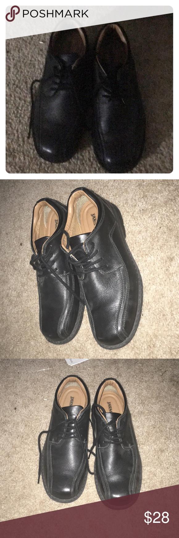Black Jarman Dress Shoes Dress Up Shoes Shoes Dress Shoes [ 1740 x 580 Pixel ]
