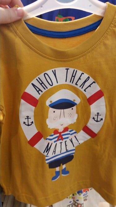 Primark boys ahoy matey sailor graphic tee