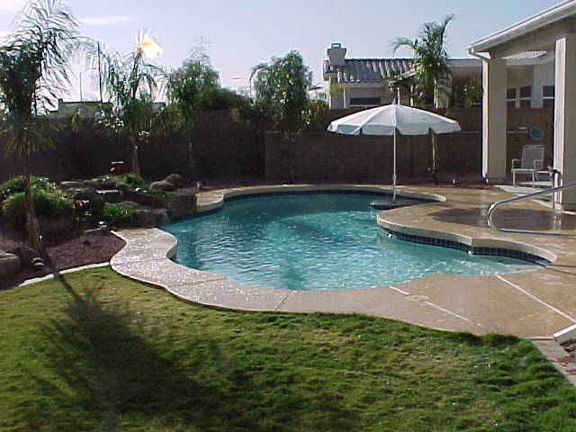 backyard oasis | Pool Builder: WaterFalls Spas Backyard ...