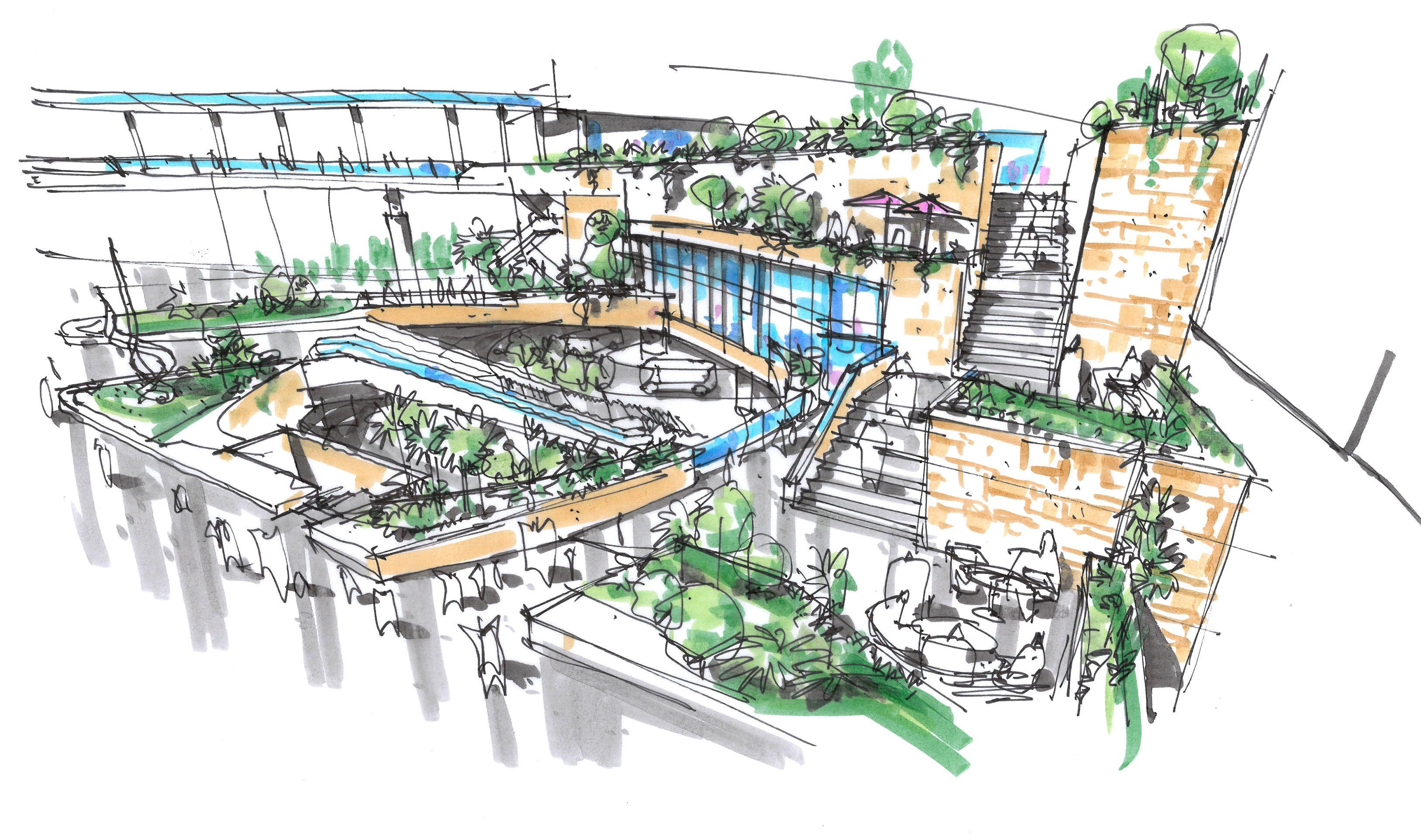 Sunken Garden Concept 1