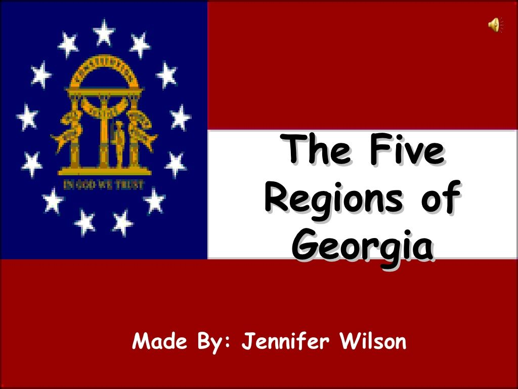 Georgia Regions Video Podcast By Jennifer Wilson Via