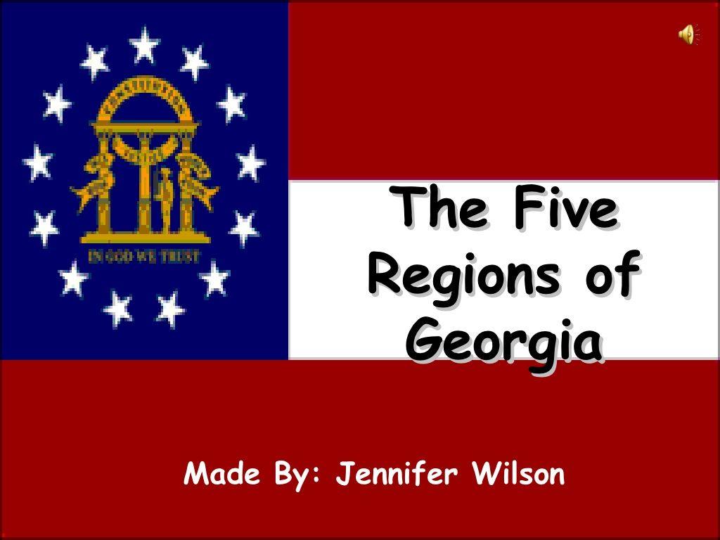 Georgia Regions Video Podcast By Jennifer Wilson Via