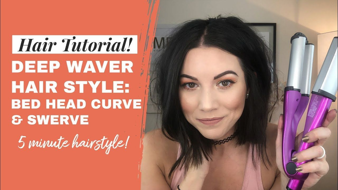 Deep Wave Iron Tutorial Bed Head Swerve And Curve Bed Head Deep Waver Hey Girl This Hairsty Hair Waver Iron Beachy Waves Hair Beach Waves For Short Hair