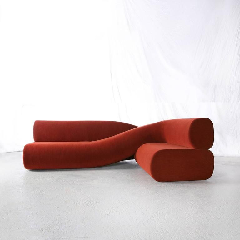 Unusual Sofas For Sale: Contemporary Sofa Twist In Upholstered Fabric In 2020