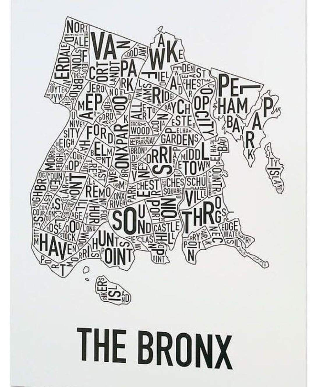 Pin by Claus Rosenfeldt Jensen on New York | Bronx map, New