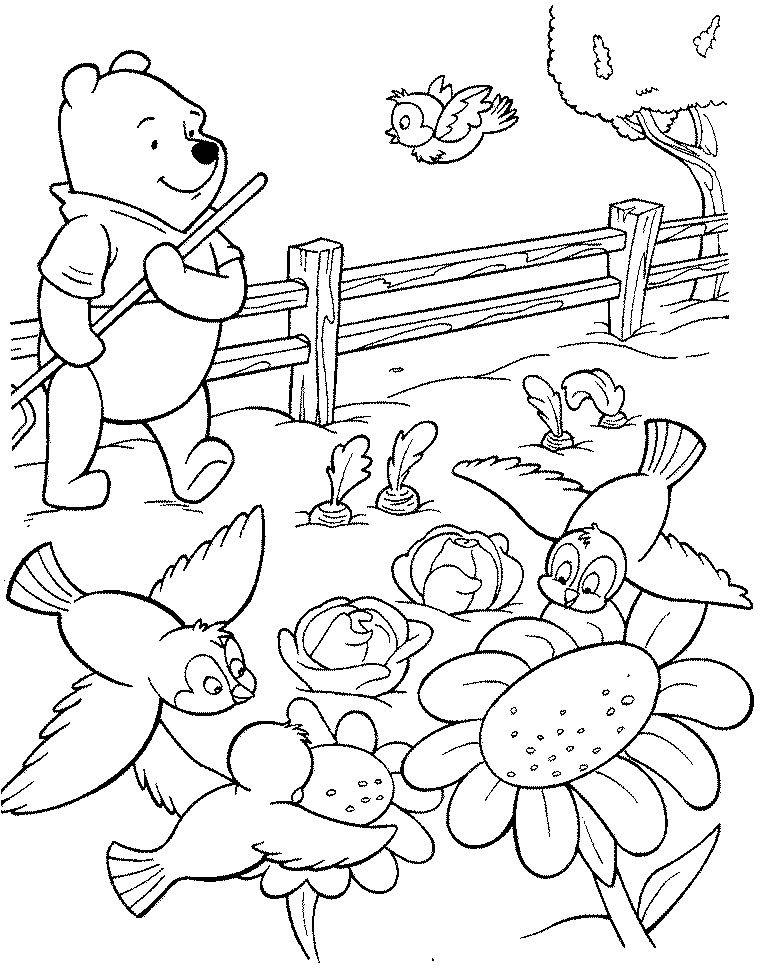 Winnie l ourson coloriages winni l 39 ourson - Pochoir winnie l ourson ...