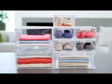 7bd1875402e5 Enjoy free shipping on all purchases over $75 and free in-store pickup on  the Clear Stackable Shirt & Accessory Drawer at The Container Store.