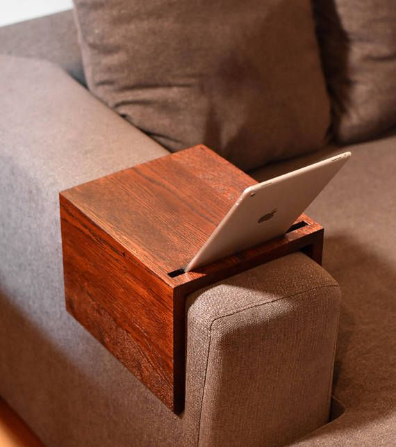Couch Arm Table Custom Sofa Tray Handmade Wooden