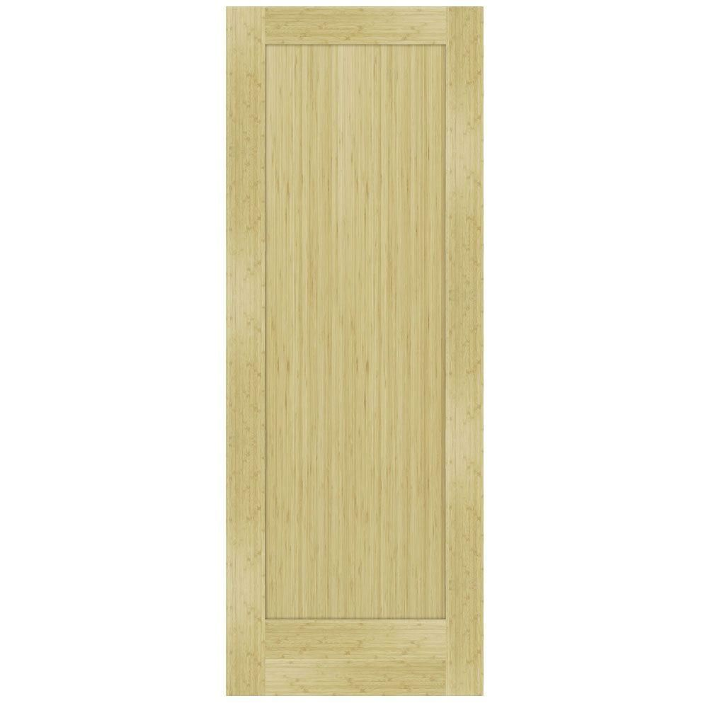 Steves Sons 36 In X 80 In 1 Panel Shaker Unfinished Bamboo Solid Core Interior Door Slab Q64qbnnnac99 The Home Depot Doors Interior Solid Core Interior Doors Slab Door