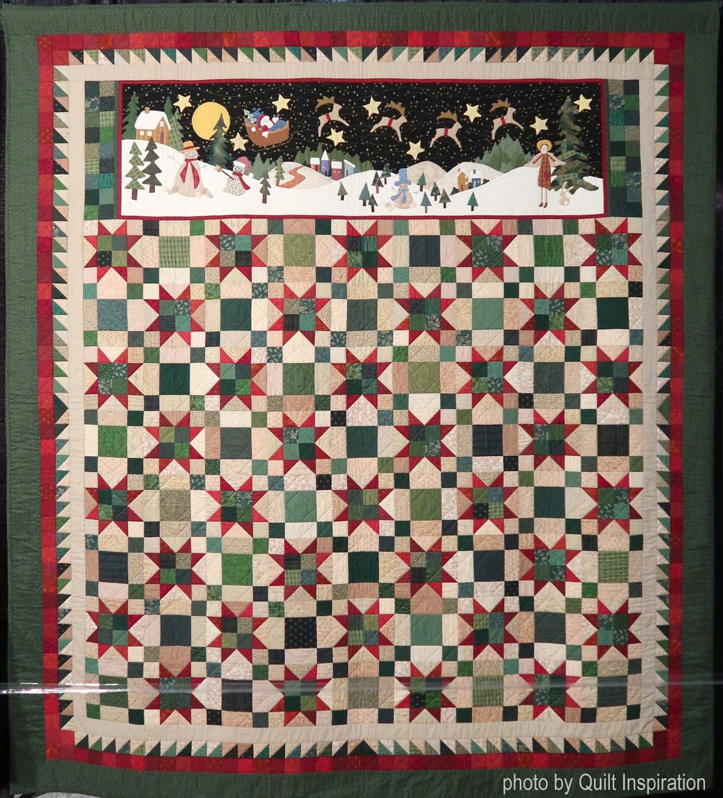 """Christmas Tree Inspiration 2017: """"And To All A Good Night"""" By Sue Garman. Photo By Quilt"""