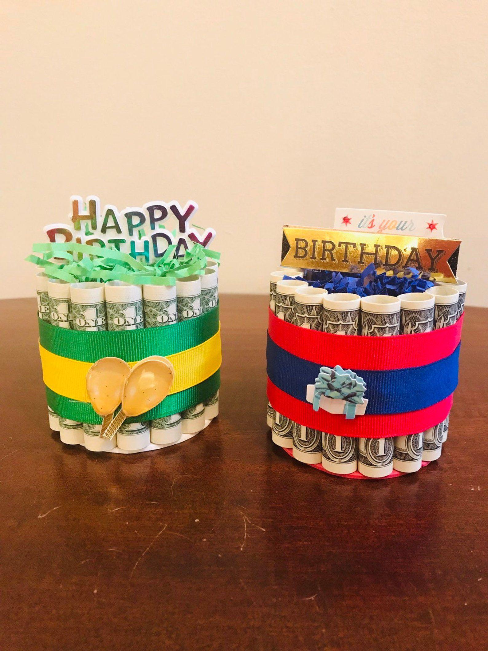 Birthday money cake unique birthday gift birthday gift