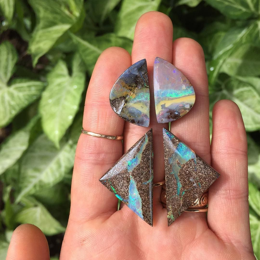 Had to share a little preview of the latest batch of boulder opals that are starting to arrive by mail! Aren't they lovely?!  #naturesart #boulderopal #opallove