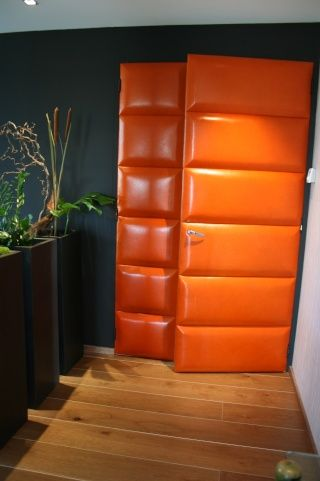 Orange Upholstered Doors  Doors    Doors Modern And
