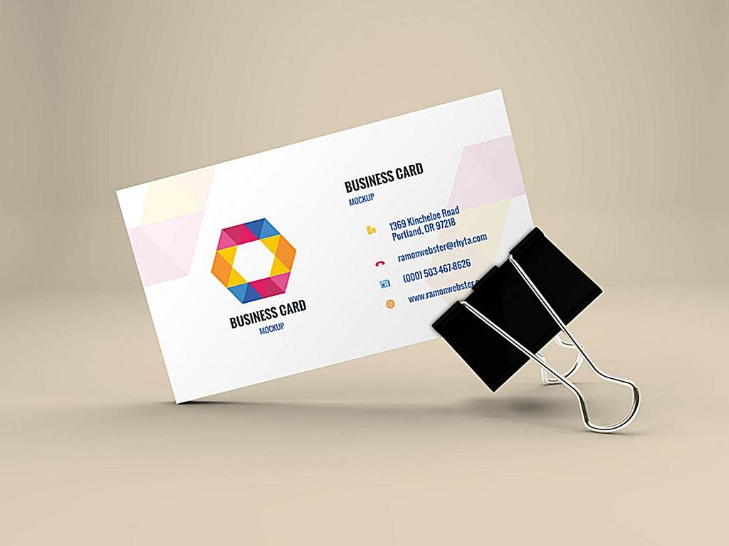Business card mockup concentrateg 1024768 business cards business card mockup in binder clip template magicingreecefo Image collections