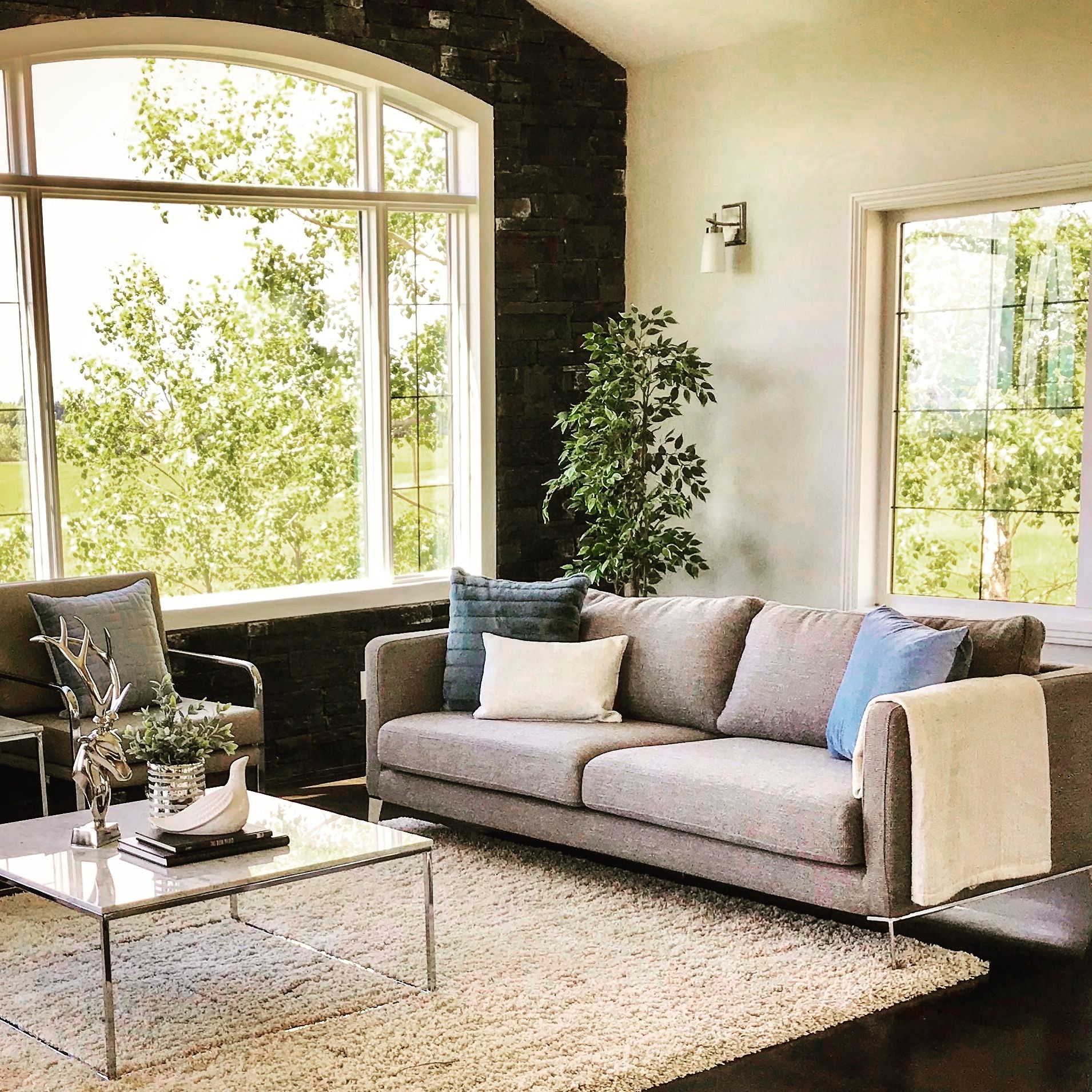 Home Staging Gallery: Cochrane Living Room Staged By Transcend Staging