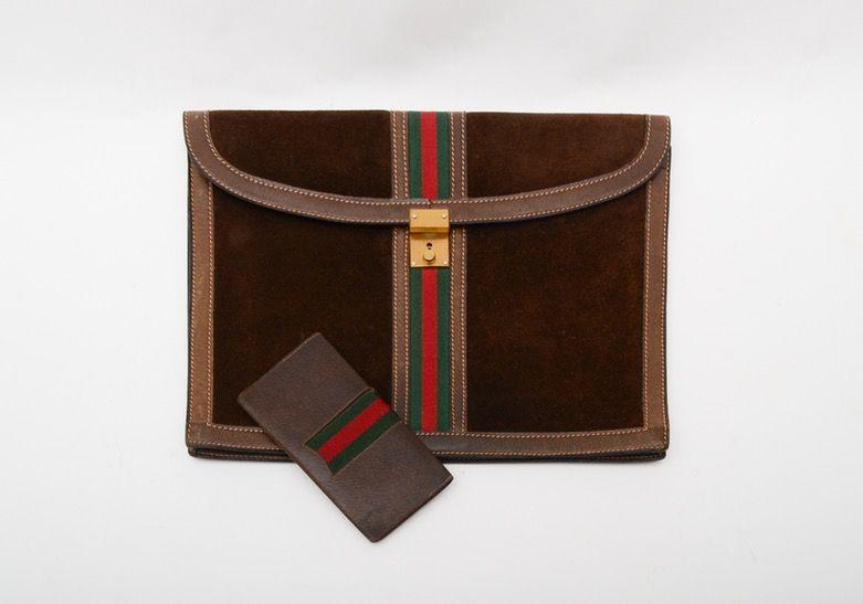 4e2a774406f Attache and checkbook cover....vintage Gucci on ebth