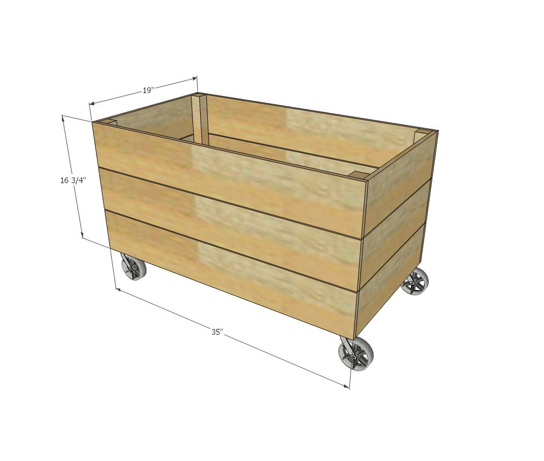 Simple Cedar Wooden Toy Box Diy Wood Box Diy Toy Storage