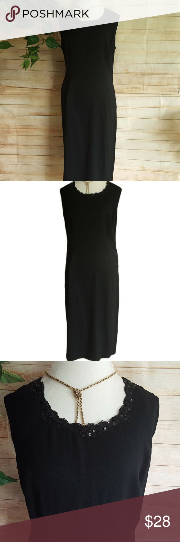 Vintage R M Richards Karen Kwong Black Dress Lbd Black Dress Size 16 Dresses Clothes Design [ 1740 x 580 Pixel ]