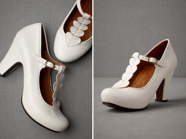 chie mihara on bhldn heartstring heels weddings white shoes