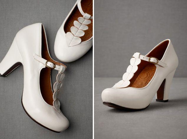 chie mihara on bhldn heartstring heels weddings white shoes