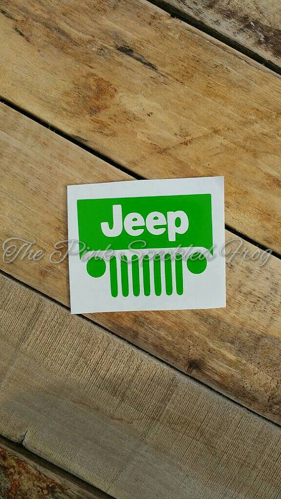 Jeep Grill Decal Jeep Decal Yeti Cup Decal Car Decal Vinyl - Jeep vinyls for yeti cups