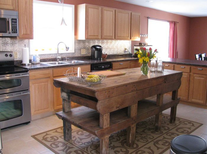 Strange Antique Kitchen Island Bench Bigbee Bunkhouse Interior Gmtry Best Dining Table And Chair Ideas Images Gmtryco
