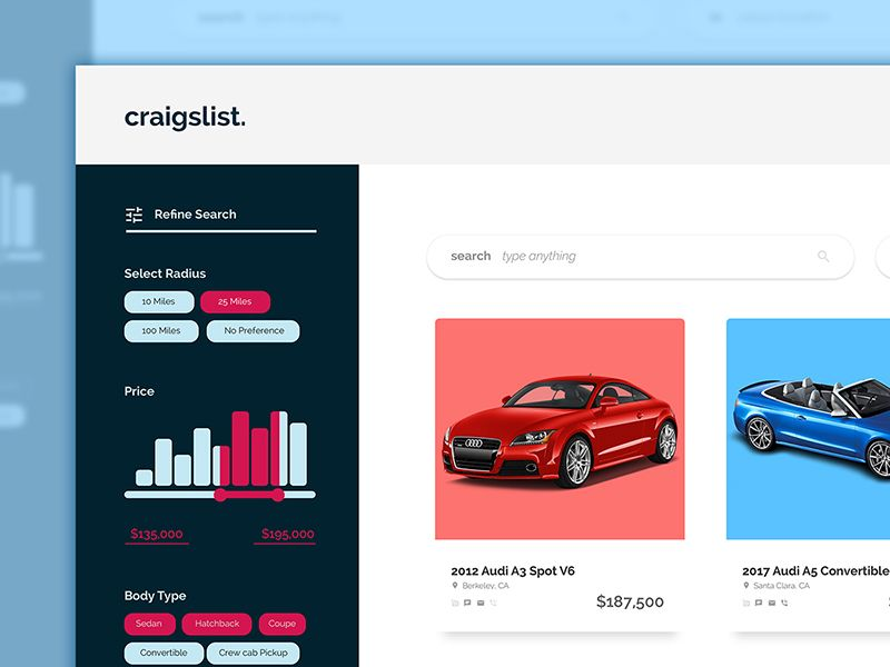Craigslist Redesign Challenge | Redesign, Challenges, Cool ...