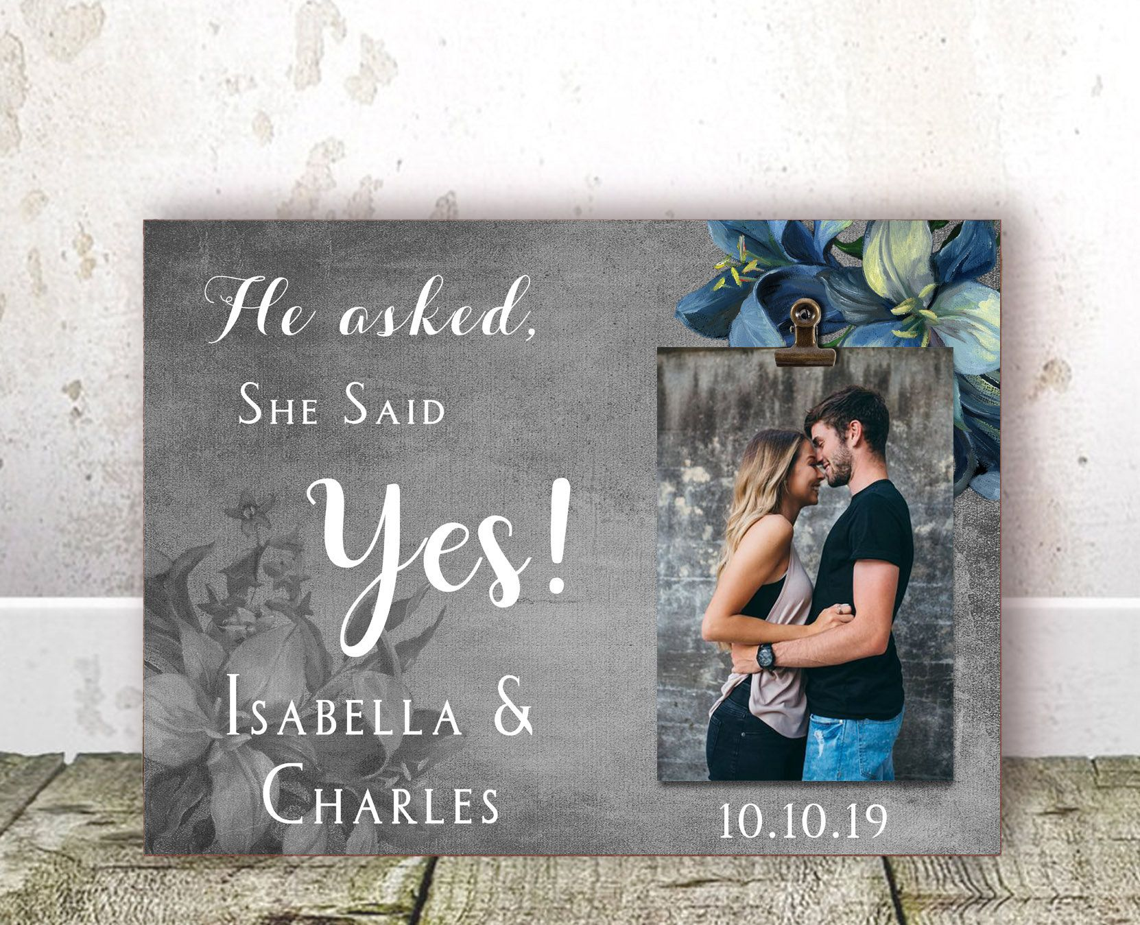 Engagement gifts for couple personalized engagement gift