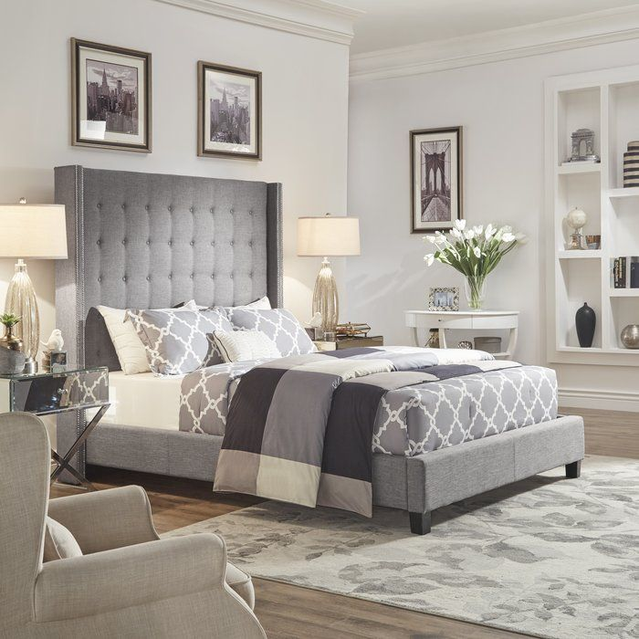 Luxullian Button Tufted Platform Bed In 2019