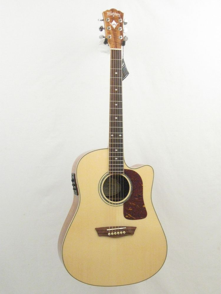 Washburn Wsj50scekelite Limited Edition Spruce Koa Acoustic Electric Guitar Washburn Acoustic Electric Guitar Washburn Acoustic Guitar Guitar
