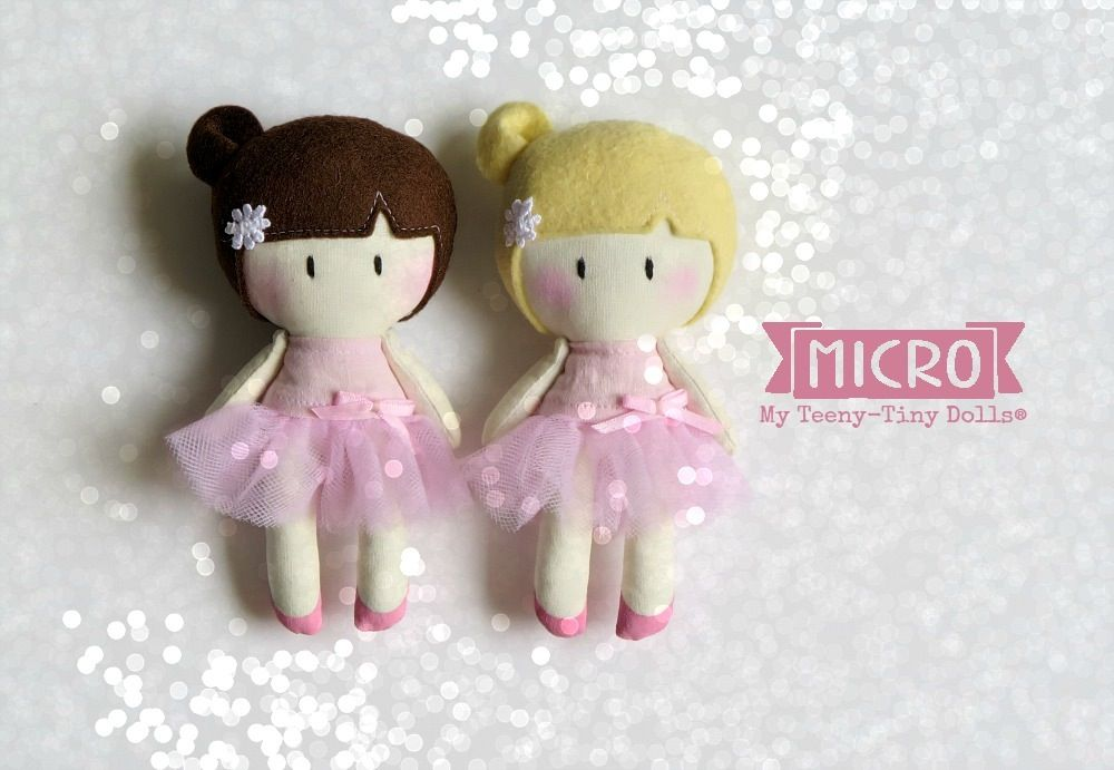 "5"" MICRO My Teeny-Tiny Doll® - Ballerina by Cook You Some Noodles®"