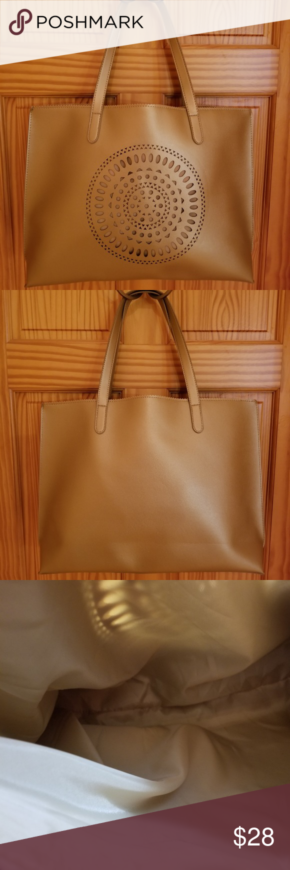 Neiman Marcus Large Gold Faux Leather Tote Bag Neiman Marcus Large Gold  Faux Leather Tote Bag c7fd013f6e