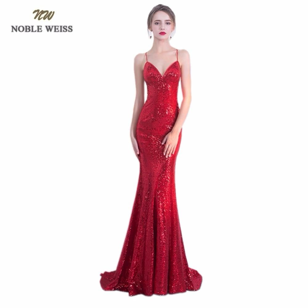 Noble weiss sexy prom dresses sequin custom made sweetheart