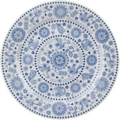 Churchill China Royal Wessex Tonkin Placa de Chelsea Azul Y Blanca