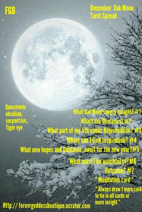 December FullOak Moon Tarot Spread #fullmoontarotspread