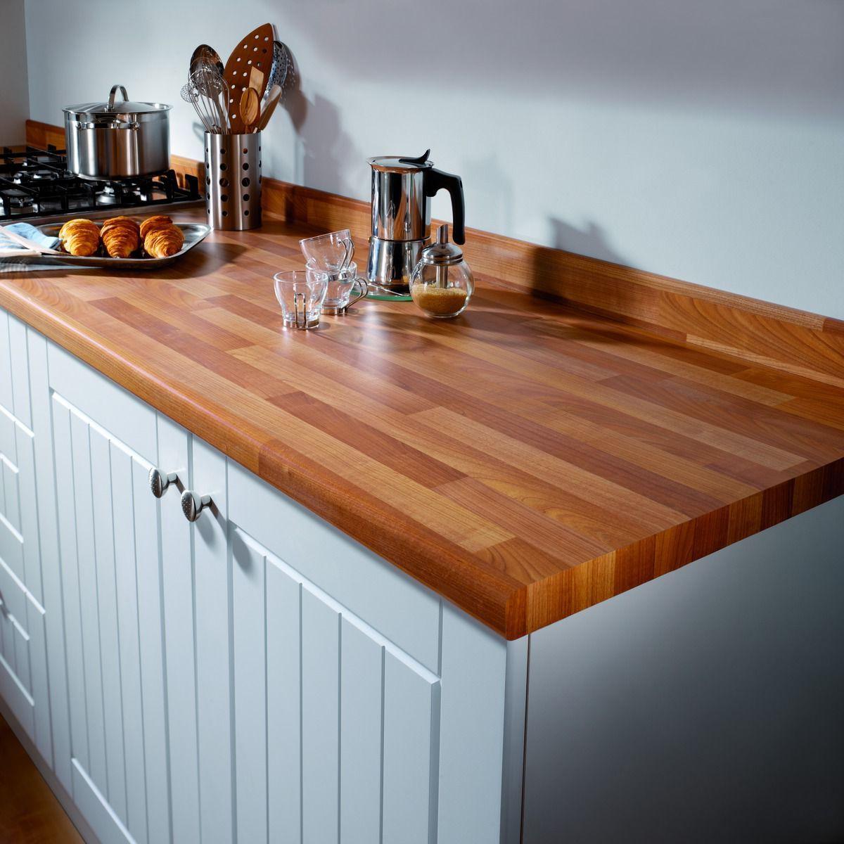 Kitchen Worktops That Fit Over Existing Worktops: Cherry Block Effect 600mm X 38mm
